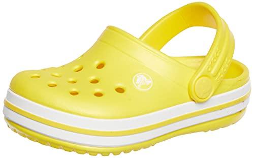 crocs Unisex-Kinder Crocband K Clogs, Gelb (Lemon), 22/23 EU