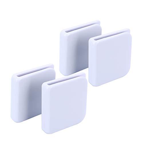 Duschvorhang-Clips, selbstklebende Spritzschutz-Duschvorhang Clips, Hält Wasser in Dusche/Wanne, 4 Stück, von IWishU