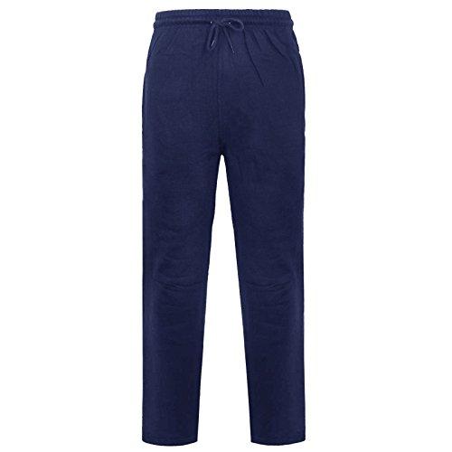 Pantalon de jogging en polaire brossé avec ourlet ouvert pour homme - Bleu - Taille unique