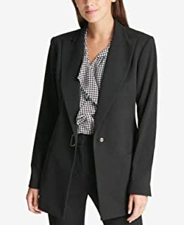 DKNY Womens Black D Ring Blazer Wear To Work Jacket US Size: 10