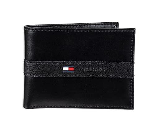 Tommy Hilfiger Portefeuille avec 6 Poches pour Cartes de crédit et fenêtre d'identification Amovible, Negro (Noir) - 31TL22X062-001