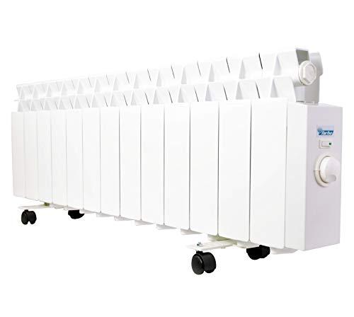 farho Radiador Eléctrico Bajo Consumo LPR 975W (13) · Emisor Térmico con Termostato Analógico · Acumulador de Calor Portátil · Especial Bajo Camilla · 10 AÑOS GARANTÍA