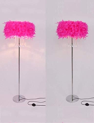 ZUQIEE Lámparas de pie De pie luminarias de Cristal de Estilo Europeo de Hierro Luces del Dormitorio del Piso de la Sala de Estar del Bulbo Incluyen, 6 (Color : 5)