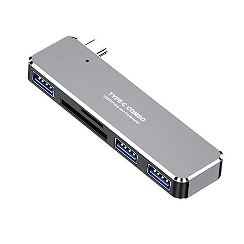 NXACETN Base De Expansión, Base De Expansión 5 En 1 Hub De Aleación De Aluminio De Transmisión Rápida Tipo C A Estación De Acoplamiento De Tarjeta TF/SD Compatible con HDMI para El Hogar # 1