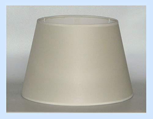 Prime paralume coprilampada tronco cono tessuto avorio e PVC - produzione propria - made in Italy (cm 35)
