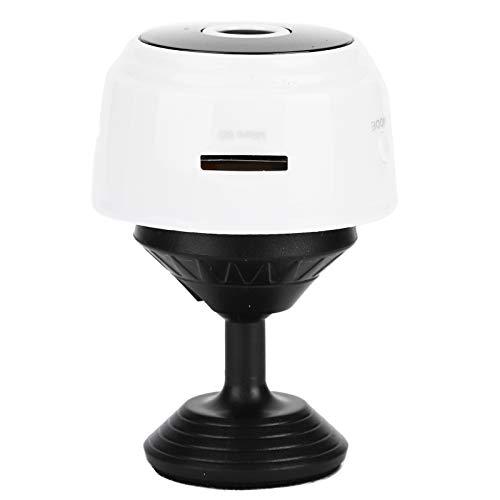 Omabeta Cámara inalámbrica Mini cámara WiFi Monitor de aplicación A9 Visión Nocturna por Infrarrojos 1080p Cámara inalámbrica Cámaras Domo Sistema de Seguridad para el hogar(Blanco)
