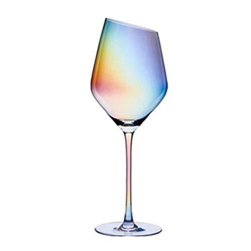 Copa de vino tinto de 10 onzas, 300 ml, cristal de alta calidad, perfecto para fiestas, bodas y regalos, juego de 2 (colorido vaso de vino) (color: 450 ml/15 onzas)