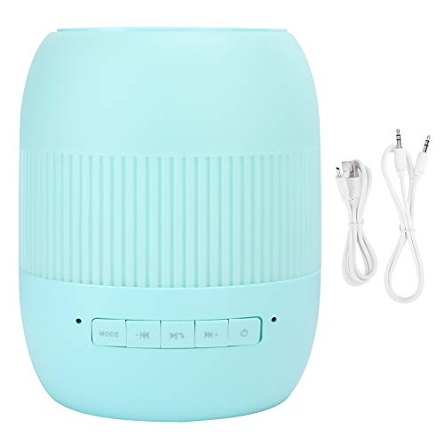 Lazimin Altavoz portátil de Bluetooth para el hogar, Altavoz de Graves de Audio Subwoofer de Sonido estéreo de Alta fidelidad portátil con lámpara de Escritorio(Verde)