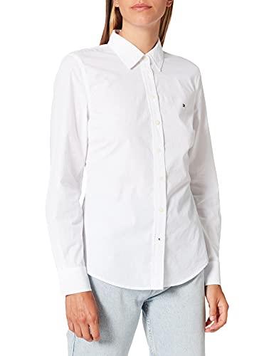 Tommy Hilfiger WW0WW31003 Camisa, TH Optic White, 36 para Mujer