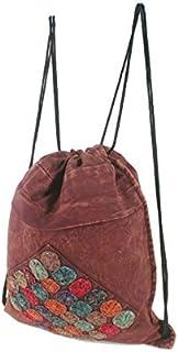 CAL FUSTER - Mochila Saco de Bolsa de Cuerdas Hippie étnico Tela algodón Color Granate. Medidas: 41x34 cm. Aprox.: Amazon.es: Equipaje