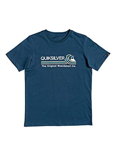 Quiksilver™ Stone Cold Classic - T-Shirt - Garçon Enfant, Bleu (Majolica Blue), 14 ans
