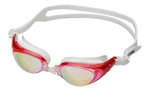 Aquazone ajustable gafas de natación (garantía de reemplazo de por vida) Premium UV protection-anti antiniebla nadar goggles-free caso para hombres adultos mujeres jóvenes para niños, Rojo