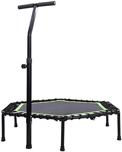 BRFDC Trampolin Fitness Aptitud Rebounder el trampolín con la manija Ajustable Plegable Mini trampolín Ejercicio for los Adultos o los niños (Color : Green)