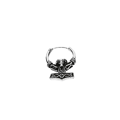 NKlaus PAAR 925 STERLING SILBER Keltische Bali Ohrringe Creolen 16mm Widder Hammer 7064