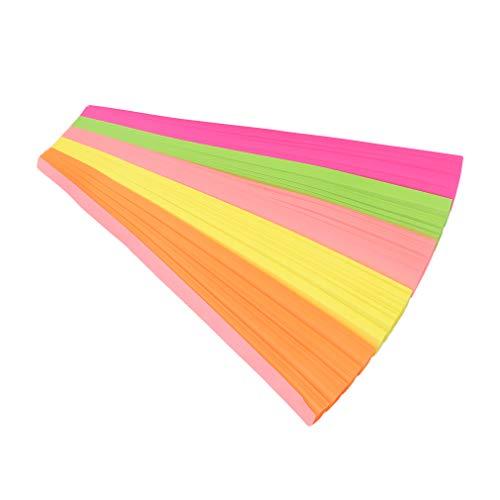 #N/A Ristiege 1030 piezas de papel Origami Estrellas de doble cara de color arco iris plegable regalo festival, juego de 5 colores fluorescente (540 hojas)