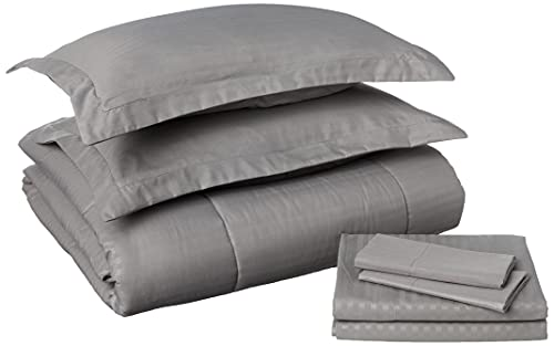 Sweet Home Collection 8 Piece Bed in A Bag Stripe Sheets, 2...