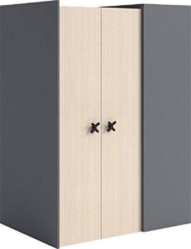 IKS Cabina armadio X -01sinistra Walkin in Closet Wardrobe, colore antracite/rovere