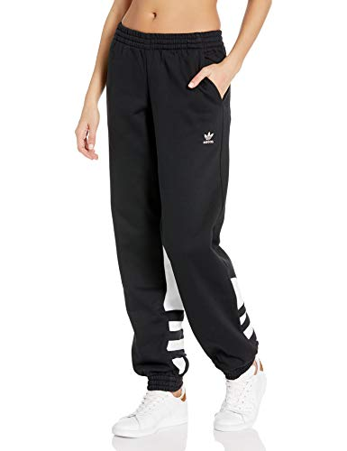 adidas Originals Women's Large Logo Sweat Pants, Black/White, M