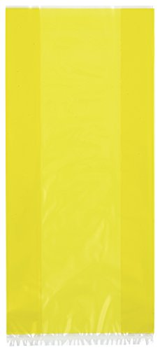 Unique Industries Yellow Cellophane Bags, 30ct -
