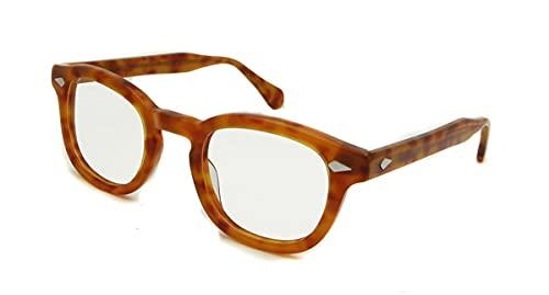 TYTG Gafas de Sol Gafas Estilo Moda Redondo Retro Vintage Gafas Marco Hombres Hechos a Mano Hechos a Mano Artículos de Uso Diario (Frame Color : B)