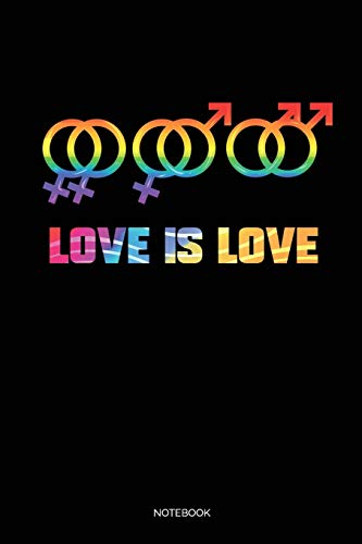 Love Is Love: Punkteraster Dotted Notizbuch A5 - Homosexuell Hochzeit Gay Pride LGBT Notizbuch I Lesbisch Bisexuell Transgender Lesben CSD Geschenk