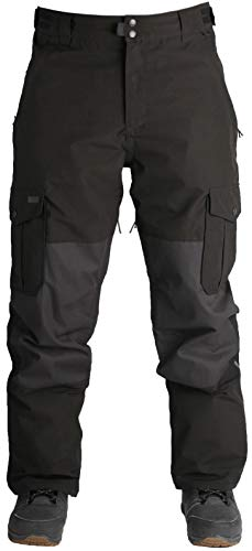 Ride Phinney Insulated Snowboard Pants Mens Sz L Black/Waxed Black