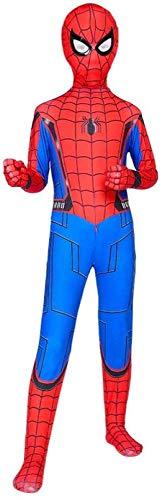 Kinderen superheld Spiderman kostuum Homecoming Halloween carnaval Spider-Man pak Cosplay Masquerade outfit, Spandex/Lycra, G- (130~140) cm