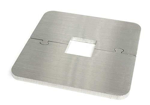 EXKLUSIVE EDELSTAHL eckig VIERKANT Heizkörper Rosette - Einzelrosette für Geländer HEIZUNG (Vierkant: 20mm)