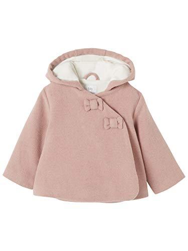 Vertbaudet Winterjacke für Baby Mädchen, Kapuze Altrosa 86