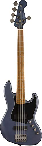 Squier FSR Contemporary Active Jazz Bass® HH V - Tabla para dedo (madera de arce roada), color marrón