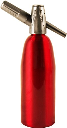 Creamright Sparkle Soda Siphon-Red