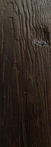 Eleni Wood - EW105 - Trave decorativa in finto legno, lunghezza 2 metri, in poliuretano leggero e resistente, per soffitto, con scasso per passaggio cavi, personalizzabile in 10 colori (Noce BR. 25)