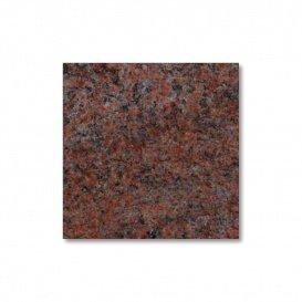 Base para tumba de piedra natural – Multicolor rojo/Medio (10 x 20 x 20 cm) / mate