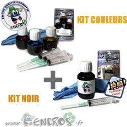 Kit encre-pack Kits tinta color + negro HP60–Jet tinta