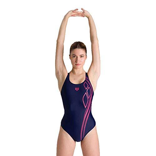 ARENA Damen Arena Spirit Pro Back One Piece Swimsuit, Navy-freak Rose, 40 EU