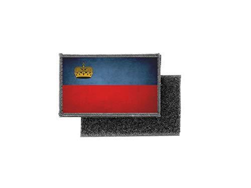 Aufnäher patch aufbügler vintage gedruckt flagge fahne liechtenstein
