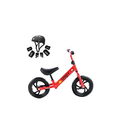 Grupo K-2 Riscko - Bicicleta sin Pedales con sillín Y Manillar Regulables | Ultraligera | Correpasillos Minibike | Bicicleta para Niños de 2 a 5 años Honey | Rojo