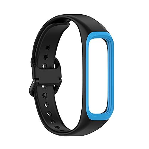 Tiggo Correa para Samsung Galaxy fit2 SM-R220 Watch,Bandas Correa Repuesto,Flexible Silicona Reloj Recambio Brazalete Watch Correa Repuesto para Samsung Galaxy fit2 SM-R220 (azul)