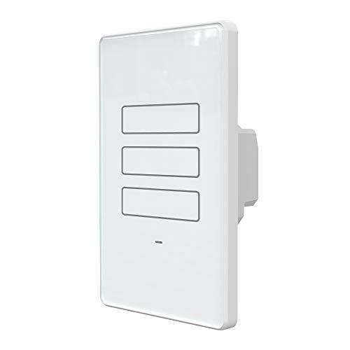 Interruptor Inteligente WiFi AGL, 03 teclas Touch, Branco - Compatível com Alexa