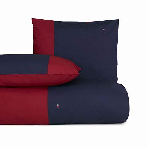 Tommy Hilfiger Zirvehome - Juego de cama (funda nórdica y funda de almohada de 200 x 200 cm), color rojo