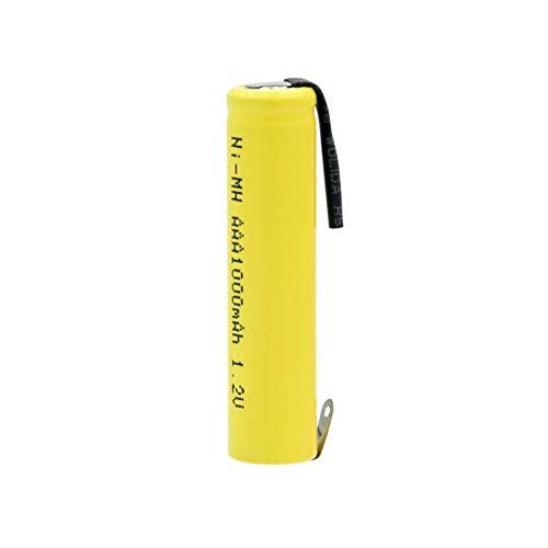 yfkjh Batería AAA Ni-MH De 1.2v 1000 Mah, BateríAs Recargables De Alta Descarga, Batería De Gran Corriente + Bricolaje para Teclado MP3 16PCS