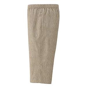 リトルアイランド メンズ 総ゴムパンツ (高島ちぢみ・股下42・綿100%・ベージュ 5L) ズボン ルームウェアボトムス