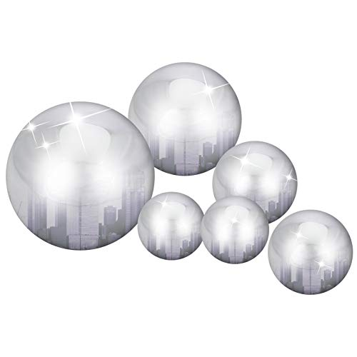 Aoliandatong 6 Pcs Stainless Steel Gazing Ball for Home Garden Ornament Decorations,50-150 mm Mirror Polished Hollow Ball Reflective Garden Sphere Floating Pond Balls Seamless Gazing Globe