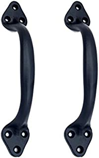 Adonai Hardware Baali Door and Cabinet Pull (Supplied as Two Pieces per Pack) (Black Powder Coated)