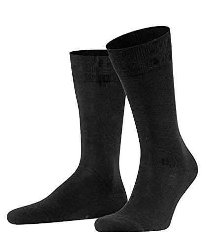 FALKE Herren Socken Family, Baumwolle, 1 Paar, Schwarz (Black 3000), 43-46 (UK 8.5-11 Ι US 9.5-12)