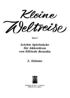 KLEINE WELTREISE 1 - arrangiert für Akkordeon - zwei Stimmen [Noten / Sheetmusic] Komponist: BENEDIX ELFRIEDE