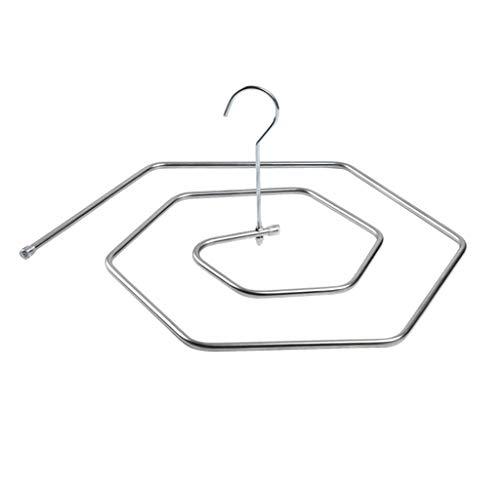 GYL Tendedero XSJZ Perchero En Espiral, Material de Acero Inoxidable, Perchero Giratorio Circular para El Hogar (Color : B, Size : Pack of 2)