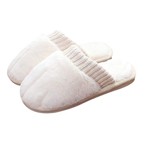 Yimixz Cat Paw Animal Slippers for Women Cute Plush Womens House Shoes Memory Foam Bedroom Slippers