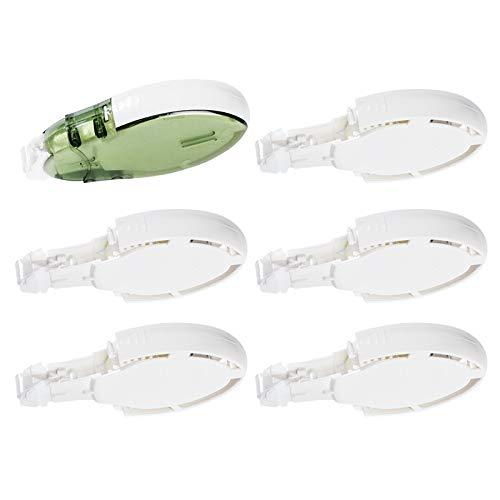 Ideen mit Herz Klebeband-Abroller & Nachfüllkassetten | doppelseitig klebend | 8 mm x 10 m pro Kassette | nachfüllbar (1 Abroller + 5 Nachfüllkassetten)