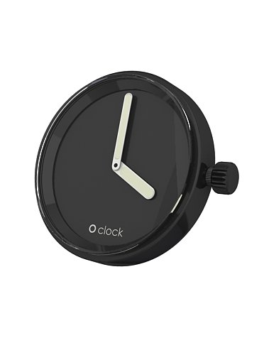 O clock Unisex-Uhrengehäuse Mechanism für Armbanduhr schwarz Analog 32 mm MEC.NS